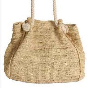 Bujibaja straw beach tote with rope handles